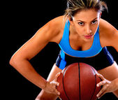 Competitive basketball player — Stock Photo