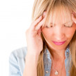 Stock Photo: Womwith headache