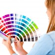 Female holding color guide — Stock Photo #11704011