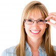 Stock Photo: Womwearing glasses