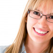 Woman wearing eyeglasses - Stock Photo