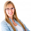 Casual woman smiling - Stock Photo