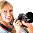 Professional female photographer — Stock Photo #11704038