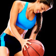 Woman playing basketball — Stock Photo #11731432