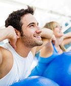 V tělocvičně — Stock fotografie