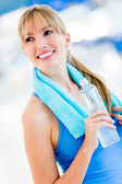 Woman living a healthy lifestyle — Stock Photo