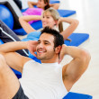 Group of exercising — Stock Photo