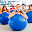 Stock Photo: In a Pilates class
