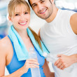 Couple at the gym — Stock Photo #11848473