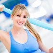 Happy gym woman — Stock Photo