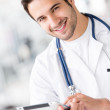 Gym doctor — Stock Photo #11848625