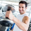 Strong man at the gym — Foto de Stock