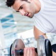 Stock Photo: Man at the gym