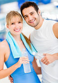 Couple at the gym — Stock Photo