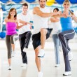 Aerobics class at the gym — Foto Stock