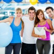 Royalty-Free Stock Photo: Group of gym