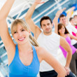 Gym in aerobics class — Stock Photo