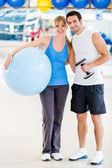 Gym couple — Stock Photo
