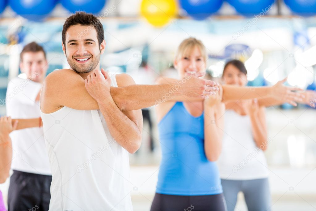 Group of warming up at the gym — Stock Photo #11854111