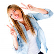 Woman having fun — Stock Photo