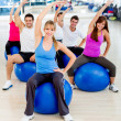 Stock Photo: Group of at the gym