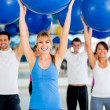 In a Pilates class — Stock Photo #11991590