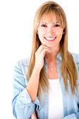 Hermosa mujer sonriendo — Foto de Stock