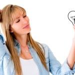 Woman having an idea — Stock Photo #12007226