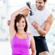 Stockfoto: Womwith personal trainer