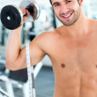Man body building — Stock Photo