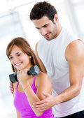 Woman at the gym — 图库照片