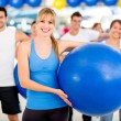 Group of at the gym — Stock Photo