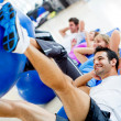 Gym exercising — Stock Photo #12046206