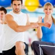 In an aerobics class — Stock Photo #12046215