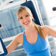 Stock Photo: Gym woman
