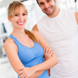Couple at the gym — Stock Photo #12046232