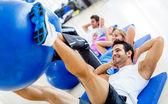 Gym exercising — Stock Photo