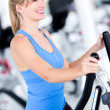 Fit woman at the gym - Stock Photo