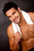 Handsome gym man — Stock Photo