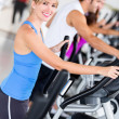 Stock Photo: Gym exercising