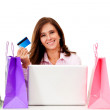 Stock Photo: Online shopping
