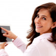 Businesswoman using tablet computer — Stock Photo #12231475