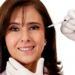 Woman getting a face lift — Stock Photo #12231494