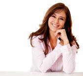 Friendly business woman — Stock Photo