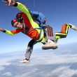 Skydiving photo. Tandem. — Stock Photo #11980935