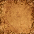 Old paper background with floral ornament — Foto Stock