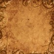 Old paper background with floral ornament — Foto de Stock