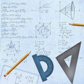 数式および装置の数学的な机 — ストック写真