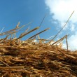 Straw hay and blue sky — Stock Photo