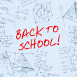 Back to school handwritten background — Stock Photo